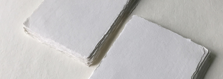 Handmade Deckle Edge Cotton Rag Paper