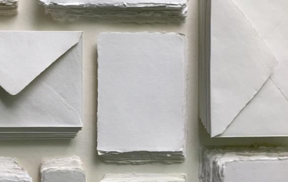Sri Aurobindo Handmade Paper factory - Deckle Edge Cotton Paper