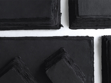 Handmade deckle edge paper in black