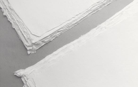 Sri Aurobindo Handmade Paper factory - Handmade deckle edge paper