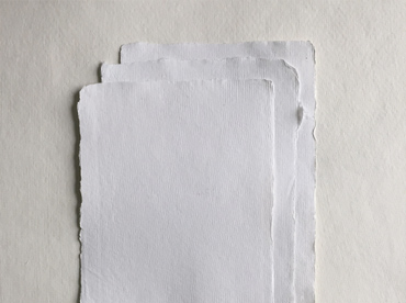 Handmade deckle edge cotton rag paper in A5