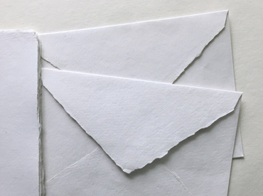 Handmade deckle edge cotton rag envelopes in C5