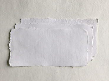 "Handmade deckle edge cotton rag paper in 4.3"" x 8.7"""