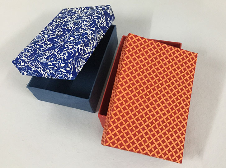 Screen printed boxes – Sri Aurobindo Handmade Paper