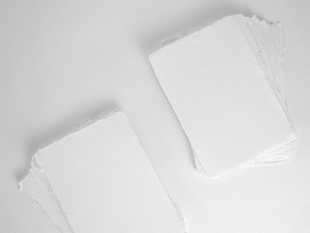 Handmade deckle edge envelopes