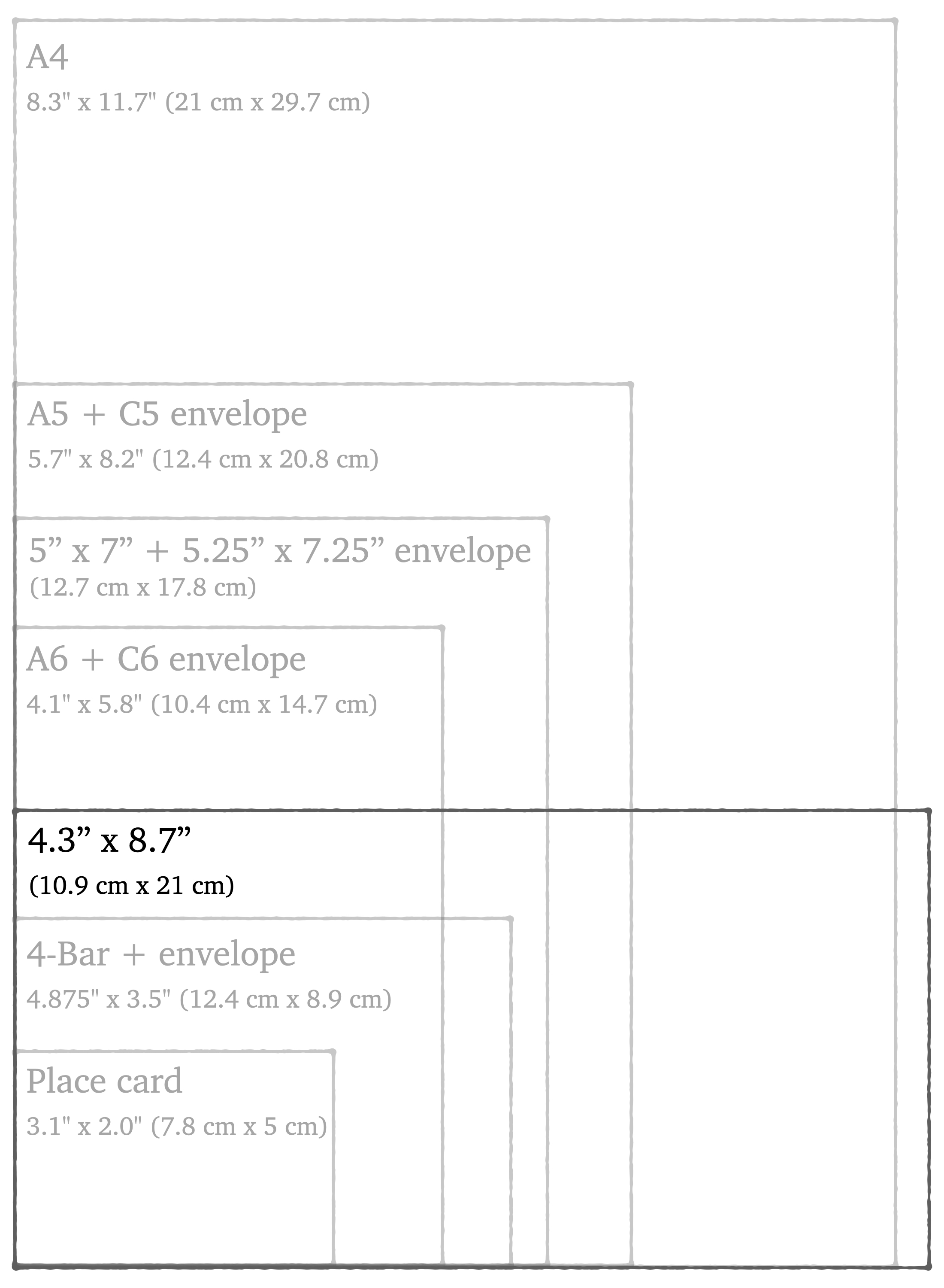 """deckle edge cotton stationery paper in size 4.3"""" x 8.7"""""""