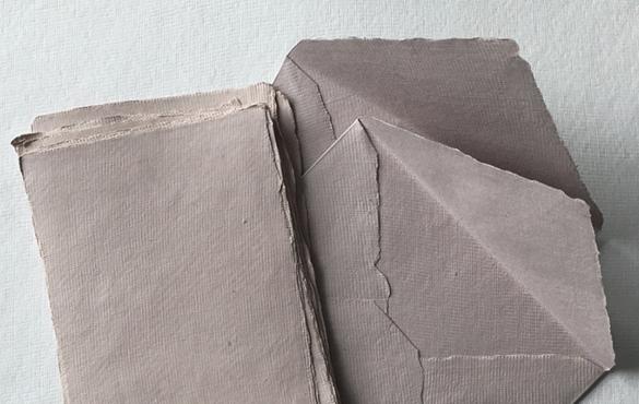 Sri Aurobindo Handmade Paper factory - Deckle edge envelopes