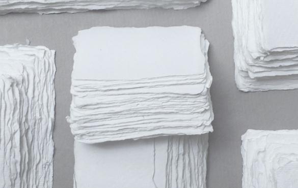 Sri Aurobindo Handmade Paper factory - Deckle edge paper